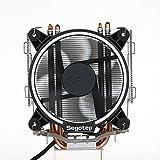 Docooler Segotep T5 Weiß LED CPU Kühler Master mit PWM Lüfter 5 Direktkontakt Heatpipes Gefrorenes Tower Kühlsystem CPU Geräuscharmer Lüfter für Computergehäuse CPU Kühler und Kühler