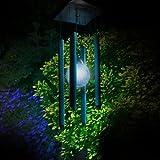 Windspiel mit Licht, solarbetrieben, wechselnde Farbe