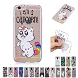 V-Ted Coque Apple iPhone 7 Plus 8 Plus Chat Licorne Coloré Silicone Ultra Fine Mince...