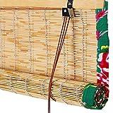 XZP Reed Cortina di bambù ciechi tonalità Romane Tenda a Rullo Tenda della Finestra Protezione Solare Antivento Coperta Retro Cut off Durevole Formato Personalizzato (Color : A, Size : 150X300CM)