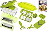 Genius 33975 Nicer Dicer Plus, Multischneider, 14 teiliges Set, grün