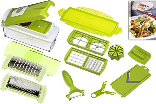 genius-33975-nicer-dicer-plus-multischneider-14-teiliges-set-grun