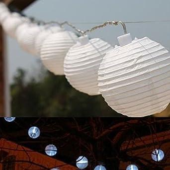 Vinteky® Lampions LED Lichterkette Für Weihnachten Blumendekor Hochzeit  Zimmer Dekoration Beleuchtung (Weiß, 30