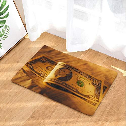 Asbjxny Dollar-Fußmatten-Bad-Matten-Badezimmer-Wolldecken-Küchen-Wolldecken für Inneneinrichtung JHY1247