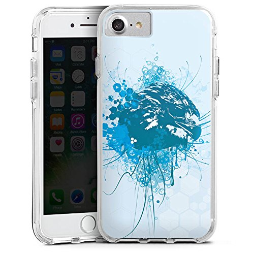 Apple iPhone 6s Bumper Hülle Bumper Case Glitzer Hülle Eagle Adler Greif Bumper Case transparent