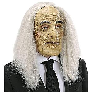 WIDMANN vd-wdm8283b Máscara Mayordomo con peluca, Beige, talla única