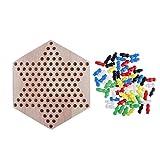 D DOLITY Profi Halmaspiel Chinesische Checker Spiel Damespiel Brettspiel