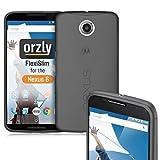 Orzly® - FLEXISLIM Case NOIR for Nexus 6 - Super Slim (0.35mm) Case / Cover / Couverture Rigide Gel Etui / Housse - ébauche par Orzly® exclusivement pour l' usage avec GOOGLE / MOTOROLA NEXUS 6 SmartPhone / Téléphone Portable - 2014 Modèle