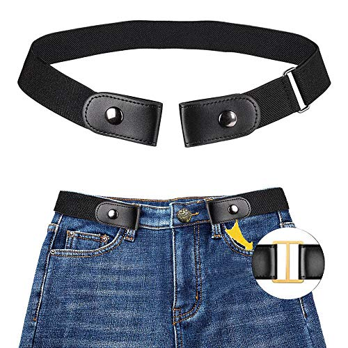 MOGOI Ceinture extensible sans boucle pour les femmes/hommes, mode respirer confortablement ceinture élastique sans renflement ou tracas pour pantalons jeans(40in-79in)