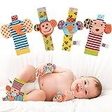 Twister.CK Sonajero para bebés, 4 piezas Sonajeros para muñecas bebé y Buscador de pies Set...