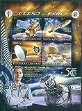 Gabon 2017 50th anniversary ELDO ESRO miniature sheet 4 values #6 space sentinel fusee vega exomars radio telescope thomas pesquet iss proxima astronaut MNH JandRStamps