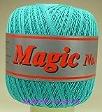 Häkelgarn 100 Gramm Baumwolle-Filet-Garn häkeln - Magic Stärke Nm 17/3 Farbe türkis_112