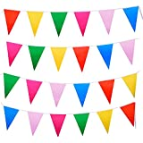 Mudder Multicolor Plastic Bunting Banner Double Sided Indoor/ Outdoor Party Decoration (65.6 Feet)