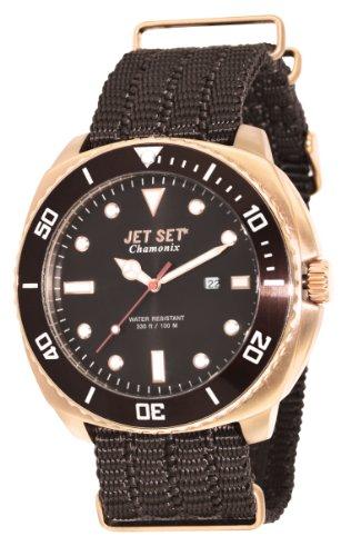 Jet Set-J2770R - 766 Chamonix-Men's Watch Analogue Quartz Bracelet Brown Dial Brown Nylon