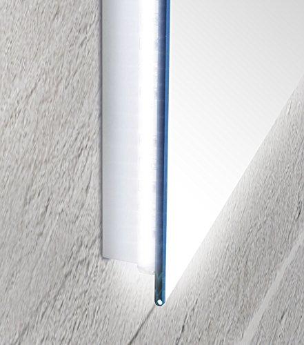 Specchio da bagno con luce a led perimetrale e vetro - Specchio da bagno con luce a led ...