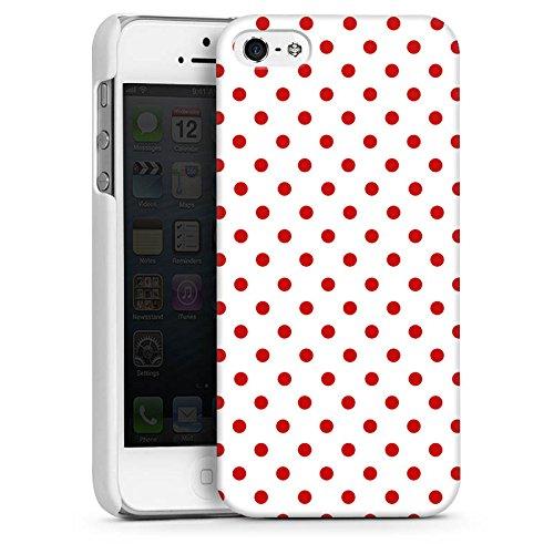 Apple iPhone 5s Housse étui coque protection Motif Motif Polka points CasDur blanc