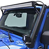 #10: u-Box u-Box Solid Steel Straight 54inch LED Light Bar Upper Windshield Mounting Brackets for 2007-2017 Jeep Wrangler JK