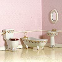 The Dolls House Emporium Luxury Victorian Bathroom, 4 pcs