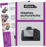 dipos I 6X Schutzfolie klar passend für Canon EOS 750 D SLR Folie Displayschutzfolie