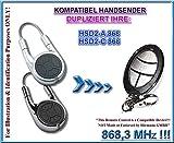 Kompatibel mit HSD2-A 868,3MHz, HSD2-C 868,3MHz HSD2-A 868,3MHz, HSD2-C 868,3MHz Handsender, Ersatz, Klone,TOP Qualität clone remote, ( NOT MADE BY HÖRMANN )