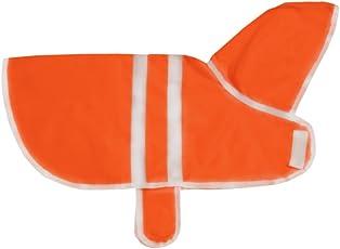 That Dog in Tuxedo Pawddington Dog Raincoat with Hoodie - Orange (26)