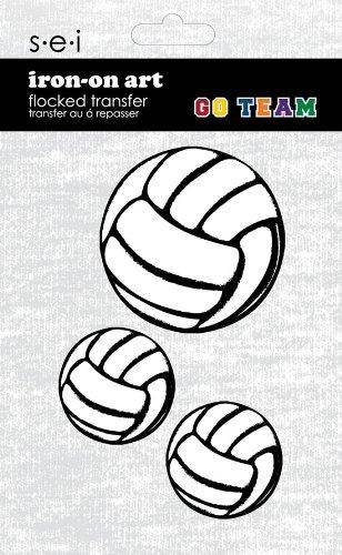 Unbekannt Darice Volleybälle zum Aufbügeln, 3 Stück