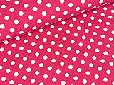 Swafing Baumwolljersey Verena Punkte weiß auf Pink