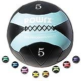 POWRX Wall-Ball I 2-10 kg I Medizinball Gewichtsball in versch. Farben I Gymnastikball Deluxe (5 kg...