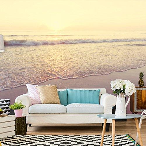 Fototapete Strand Meer 400x280 cm XXL | VLIES TAPETE - Moderne Wanddeko - Fototapete 3D Illusion - Riesen Wandbild - Design Tapete - Schlafzimmer, Wohnzimmer, Kinderzimmer geeignet | Fototapeten Wandtapete FOB0077b84XL