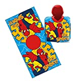Home Connection Kinder SPIDERMAN Poncho mit Kapuze Soft-Pool/Strand Badetuch für Jungen Kids