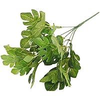 5-rama Hojas Hierba Manojo Follaje Monstera Planta Artificial Decoración 32cm