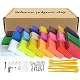 Set de bloques de arcilla polimérica para modelado, 24 colores, adecuada para hornear,