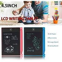 Tiptiper Tableta de escritorio LCD, de 4,5 pulgadas Junta tableta gráfica electrónico, libreta de escritura a mano portátil con lápiz óptico para niños y adultos en el hogar, la escuela y la Oficina d