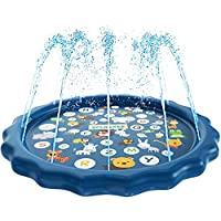 Mumfactory Water Baby Water Sprinkler Pad for Kids, Summer Outdoor Water Toys Wading Pool Splash Play Mat for Toddlers Baby, Outside Water Play Mat for 6 months -12 Years Old Children Boys Girls