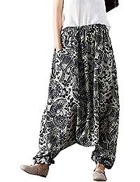 Estampados De Anchos Holgada Hippie Aladdin Yoga Harem Pantalones para Mujer 21d7f2b4c88b