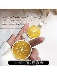 Chwewxi Pendientes de Fresas acrílicas de Frutas Corea Pendientes de Temperamento Frescos pequeños y Lindos Pendientes Largos Marea…
