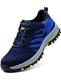 e9d047b6943 SROTER Unisex Zapatillas de Seguridad con Puntera de Acero Hombre Mujer  Zapatos de Trabajo Transpirables Antideslizante