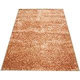 Orientteppich Schaggy handgeknüpft Langflor ca. 225x160 Beige / Gold ETFA
