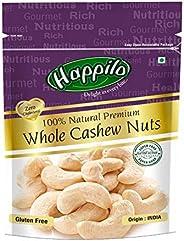 Happilo100% Natural Premium Whole Cashews, 200g (Pack of 2)