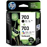 HP Deskjet 703 Ink Cartridge Combo Pack (Black/Tri-Color)