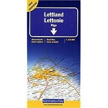 Carte Routière LETTONIE / Latvia - 1 : 325 000