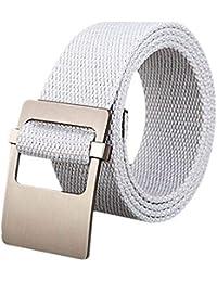 Cinturón De Lona De Los Hombres Vaqueros Regalos Elegante Con Cinturón  Cinturón Hebilla Cinturón De Tela be697a065ac0