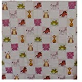 Aarushi Baby Pink Rubber Mat With Animals Print Color May Vary