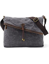 Tom Clovers Summer New Women'S Men'S Classy Look Cool Simple Style Casual Canvas Crossbody Messenger Shouder Handbag...