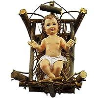 Figura de niño con cuna, 18x 23x 12 (alt.) cmRef. 50/60 cm