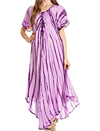 Sakkas Melika Tie Dye Caftan Dress