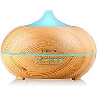 Tepoinn Aroma Diffuser, 300ml Holzmaserung Luftbefeuchter Ultraschall LED Ätherische Öle Humidifier Aromatherapie... preisvergleich bei billige-tabletten.eu