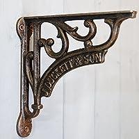 Tradizionale staffa riccamente decorata in ferro, per mensola decorativa o cesto, design J Duckett