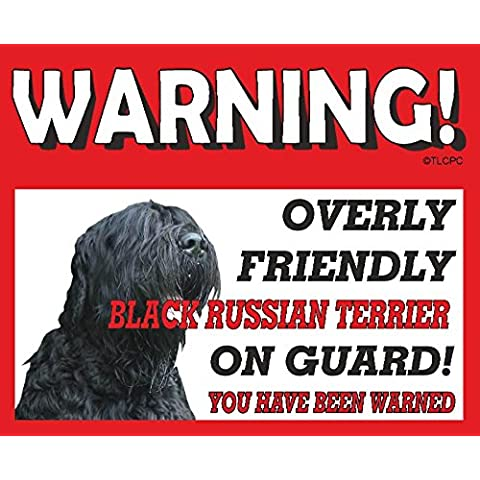 Ruso negro METAL SIGN 32 Terrier perro guardián
