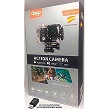 """Camara GITUP GIT2P PRO EDITION VERSIÓN ESPAÑOLA (Nuevo modelo 2017) Sensor Panasonic 2160P 24fps 1080p 60fps, WIFI, FOV 170º,120º, Panasonic MN34120PA 16MP, estabilizador imagen, Bateria 1000mha , sumergible 30M. Chipset Novatek NTK96660, LCD 1.5"""". Package y manual de instrucciones en español y esta versión INCLUYE lector USB de MicroSD para que puedas descargar tus videos facilmente en tu PC. GITUP ESPAÑA te ofrece 2 años de garantia oficial GITUP y servicio técnico en España . Envio 24 horas."""